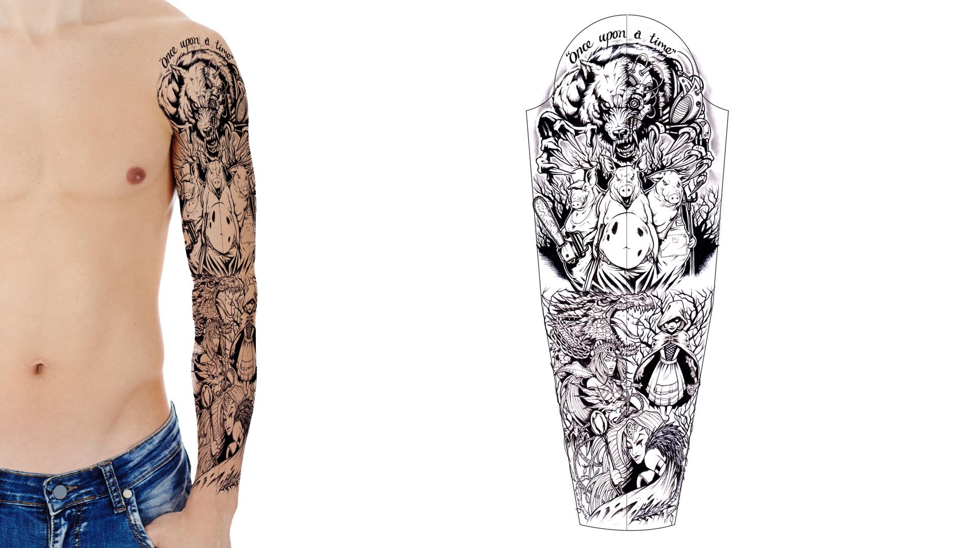 custom tattoo sleeve designs. Black Bedroom Furniture Sets. Home Design Ideas